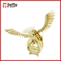 Children eagle toy wood craft puzzle assembly
