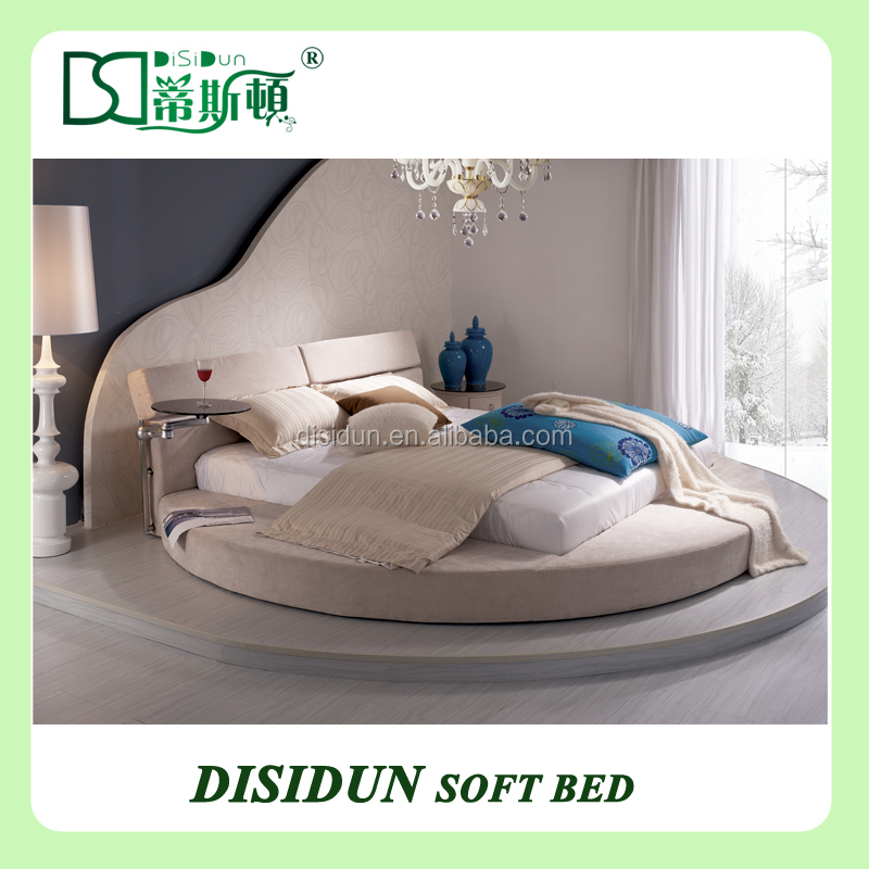 Hot Sale White Leather High Quality Diamond Bed Design