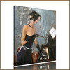 The sex lady of modern oil abstract painting for living room