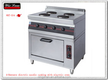 Free standing noodle cooking range with electric oven