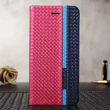 fashion card solt for iphone 6 6s knit pattern leather case