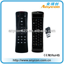 2.4g 3D game keyboard remote control without wire for tv samsung