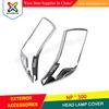 SET CHROME HEAD LAMP LIGHTS COVER HEAD LAMP COVER FOR NAVARA NP-300 NP300 NP 300 2015 PICKUP PICK UP