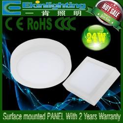 24W led light panels surface mounted Zhong shan factory