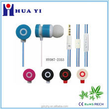 High Quality different colour earphones, Stereo Handsfree with CE and Rohs