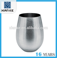Jiangmen factory stainless steel beer cup stemless whisky cup sale