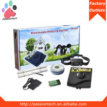 Portable Puppy Dog Pet Electric Fence Fencing System with Receiver Collar Black (W-227)