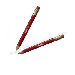 Logo printed wooden golf pencil, hex golf pencils with erasers