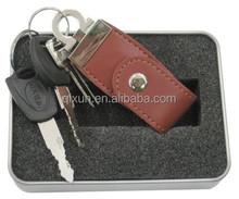 wholesale business gift cheap custom logo leather 1gb usb flash drive gift stick