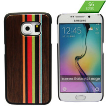 Fashionable HOT SALE Colorful Bamboo Back Phone Housing For Samsung S6