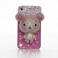 E007 Promotional Fancy Cell Phone Case with Bear Rhinestone