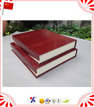 leather book shape special packing gift box