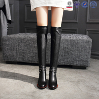 over knee boots leather sexy new model winter long boots for women&girls