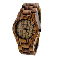 bewell wooden watches 2015/ japan movement quartz watch sr626sw