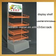 new design powder coated 4-tier wine wire storage shelf