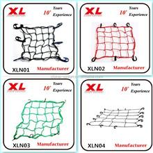 "motorcycle Helmet Cargo Bungee Net,pp mini mesh cargo net,15"" x 15"" cargo elastic bungee netting"