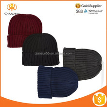 2015 All Threads 2 Pack Black Ribbed Beanie wholesale