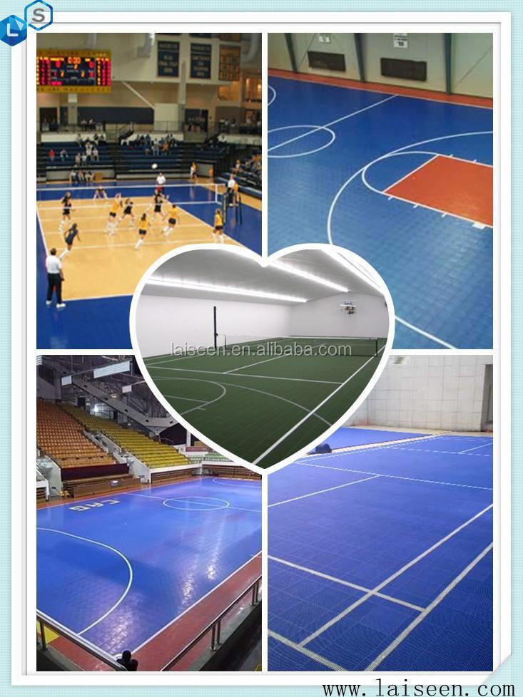 Interlocking Sports Court Flooring Used For Basketall