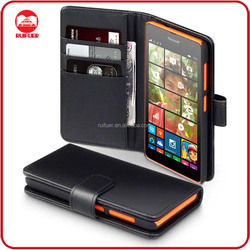 China Manufacturer Wholesale Book Pouch Stand Pocket Wallet Leather Flip Case for Microsoft Lumia 535