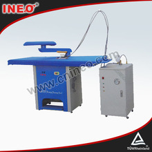 Los tipos de equipos de lavandería, comercial de lavandería 1.5m mesa de hierro, ropa de mesa de hierro