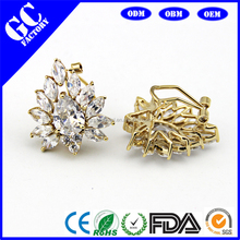 hot sale 2 gram gold beautiful designed earrings from jewelry factory