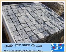 Gray granite cube stone