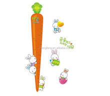 (N181) [M] Cartoon cute rabbit with carrot kid height wall sticker