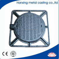 cast iron hinged manhole top with round cover