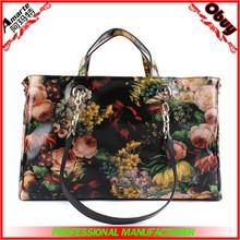 Newest fashion elegant floral leather women handbags