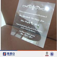 Yageli funky acrylic wedding invitations/cheap wedding decorations