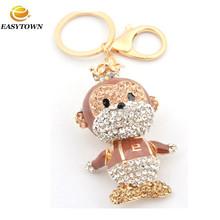 2015 New Hot fashion rhinestone gifts&crafts wholesale keychains custom cartoon keychain monkey key chains for souvenir