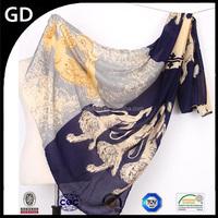 GDBX0001 Wholesale hot sale animal lions printed long latest ladies scarf designs