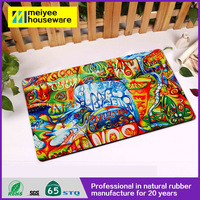 Abstract Printings Printed Mat Rubber Floor Mat Anti-skidding Home&Hotel Use Entrance Shoes Mat 100% Eco Friendly Easy to Clean