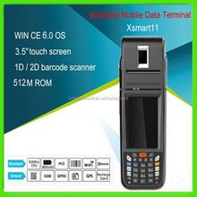 ip65 touch screen 3G bluetooth fingerprinter pda barcode scanner, magnetic stripe card reader writer