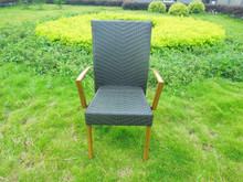 Factory price bamboo finishing artificial flat wicker chair