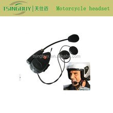 Factory directly sale real two-way wireless talking motorcycle helmet bluetooth headset