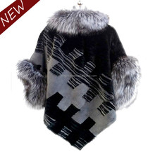 2015 elegant top fahsion hand knitting rabbit skin price