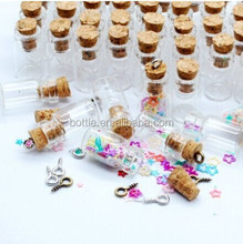 0.5ml Vials Clear Glass Bottles with Corks Miniature Decorative Glass Bottle with Cork Empty Sample Jars Small 18x10mm