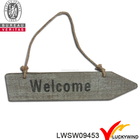 "Placa do sinal de madeira ""Welcome"""