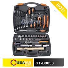 """59PCS 1/2"""" &1/4""""DR Multi Tool Hardware Socket Wrench Screwdriver Set ToolBox Used With Tools From Germany"""