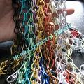 colgando común colorful anodizado de aluminio de la cadena de enlace