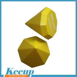 100% High quality Custom Diamond anti stress ball for promotional