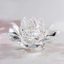 Decorative Crystal Lotus Flower in Crystal Craft