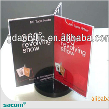 china manufacture lean back menu holder a4 l portrait acrylic