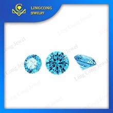 Wuzhou manufacturer good quality aquamarine cz stone