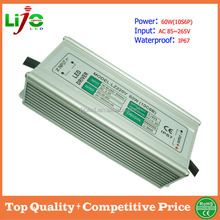 60W ac85~265V 1800ma constant current IP67 waterproof led driver for led light