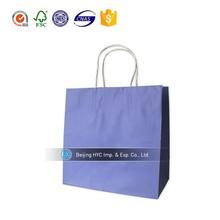 2015 OEM custom printed gift paper bag raw materials of paper bag