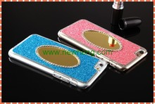 Hot selling bling glitter mirror Diamond-studded Mobile Phone Case for iphone 6
