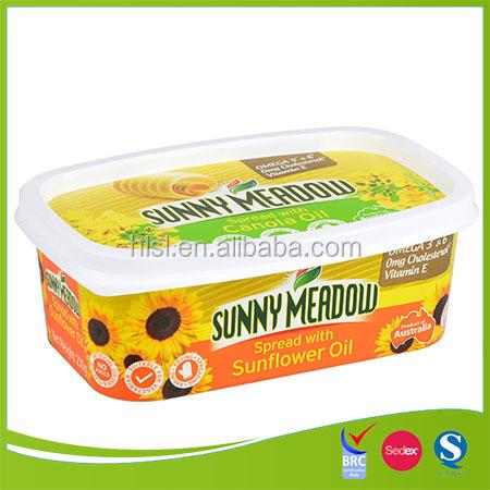 Personnalisé laminé et impression personnalisée margarine beurre emballage