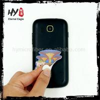 Super customized printed microfiber sticky cloth, sticky cellphone screen cleaner, mini screen cleaner